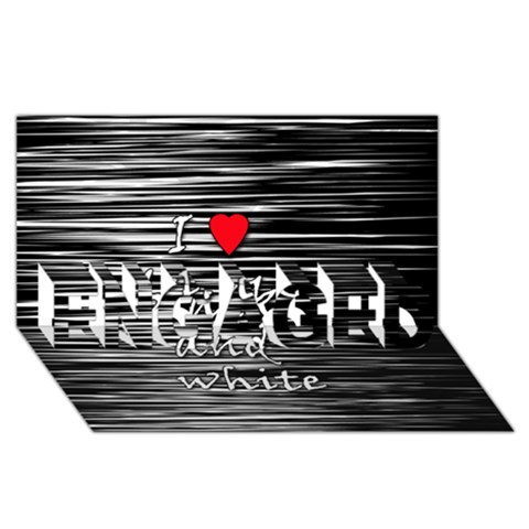 I love black and white 2 ENGAGED 3D Greeting Card (8x4)
