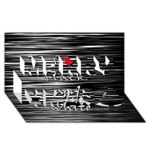 I love black and white 2 Merry Xmas 3D Greeting Card (8x4)