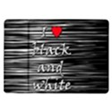 I love black and white 2 Samsung Galaxy Tab 10.1  P7500 Flip Case View1