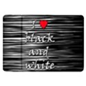 I love black and white 2 Samsung Galaxy Tab 8.9  P7300 Flip Case View1