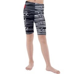 I love black and white 2 Kids  Mid Length Swim Shorts