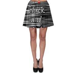 I Love Black And White 2 Skater Skirt