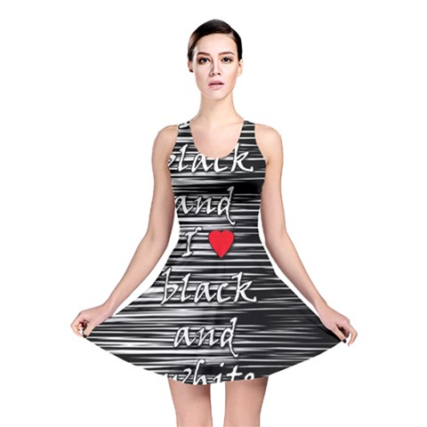 I love black and white 2 Reversible Skater Dress