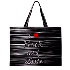 I love black and white 2 Mini Tote Bag