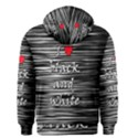 I love black and white 2 Men s Zipper Hoodie View2