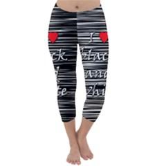 I Love Black And White 2 Capri Winter Leggings