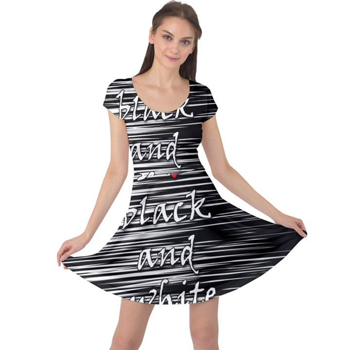 I love black and white 2 Cap Sleeve Dresses