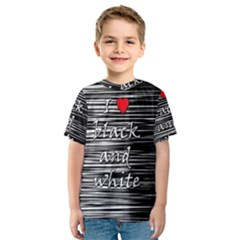 I love black and white 2 Kids  Sport Mesh Tee