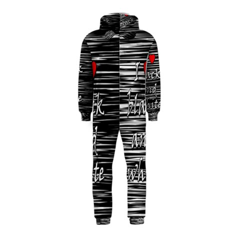 I love black and white 2 Hooded Jumpsuit (Kids)