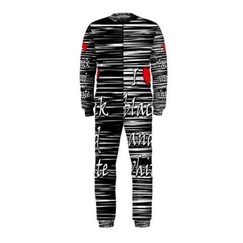I love black and white 2 OnePiece Jumpsuit (Kids)