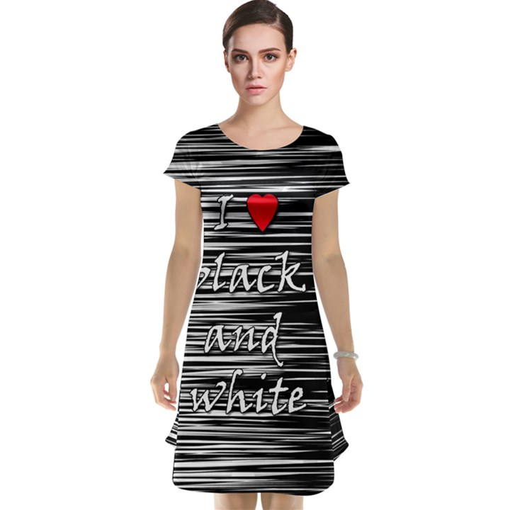 I love black and white 2 Cap Sleeve Nightdress