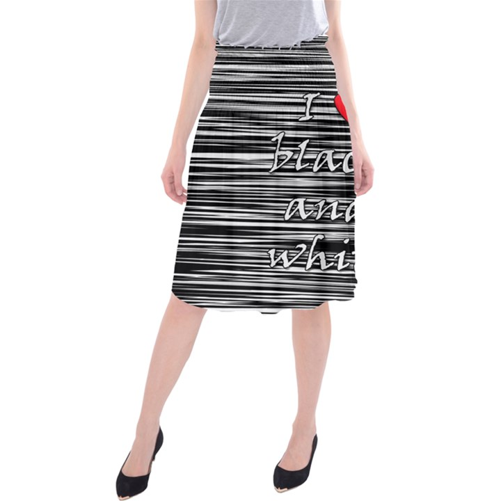 I love black and white 2 Midi Beach Skirt