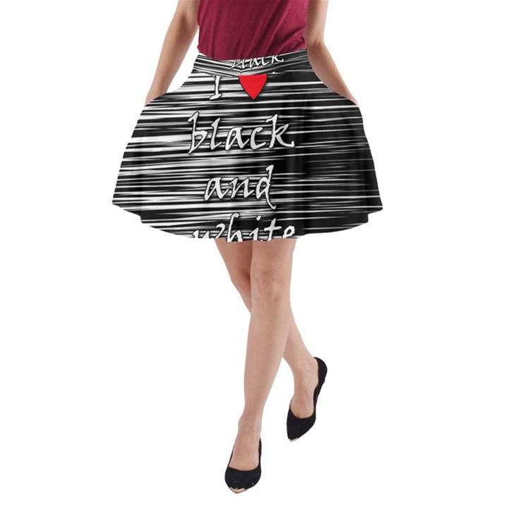 I love black and white 2 A-Line Pocket Skirt