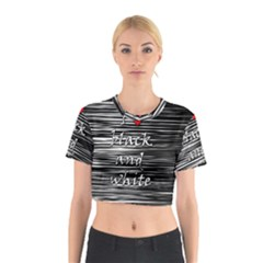 I Love Black And White 2 Cotton Crop Top