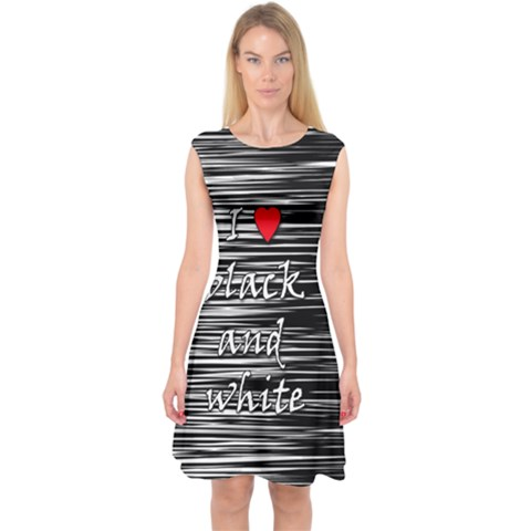 I love black and white 2 Capsleeve Midi Dress