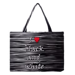 I Love Black And White 2 Medium Tote Bag