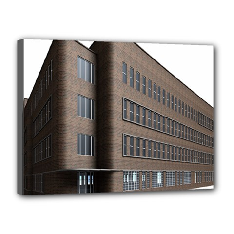 Office Building Villa Rendering Canvas 16  x 12