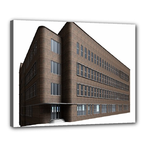 Office Building Villa Rendering Canvas 20  x 16