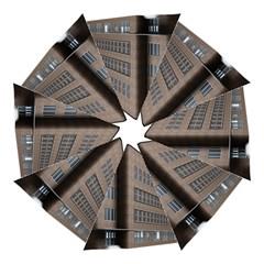 Office Building Villa Rendering Folding Umbrellas