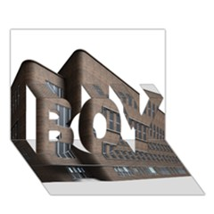 Office Building Villa Rendering BOY 3D Greeting Card (7x5)