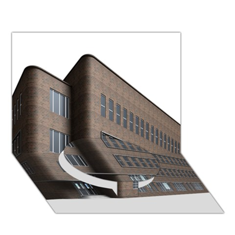 Office Building Villa Rendering Circle Bottom 3D Greeting Card (7x5)