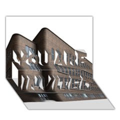 Office Building Villa Rendering YOU ARE INVITED 3D Greeting Card (7x5)