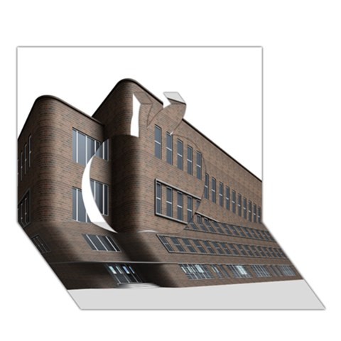 Office Building Villa Rendering Apple 3D Greeting Card (7x5)