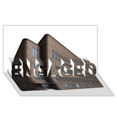 Office Building Villa Rendering ENGAGED 3D Greeting Card (8x4)
