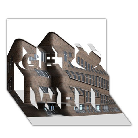 Office Building Villa Rendering Get Well 3D Greeting Card (7x5)