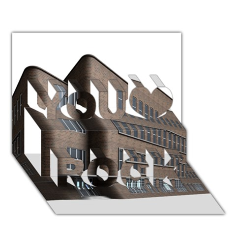 Office Building Villa Rendering You Rock 3D Greeting Card (7x5)