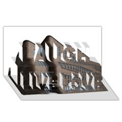 Office Building Villa Rendering Laugh Live Love 3D Greeting Card (8x4)