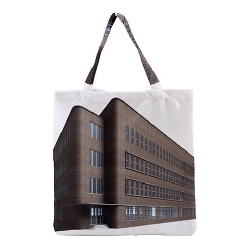 Office Building Villa Rendering Grocery Tote Bag