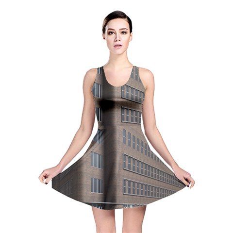 Office Building Villa Rendering Reversible Skater Dress