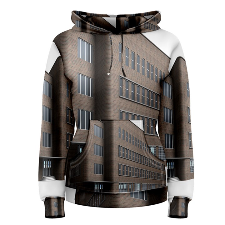 Office Building Villa Rendering Women s Pullover Hoodie