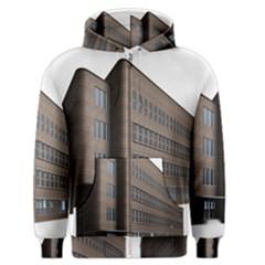 Office Building Villa Rendering Men s Zipper Hoodie