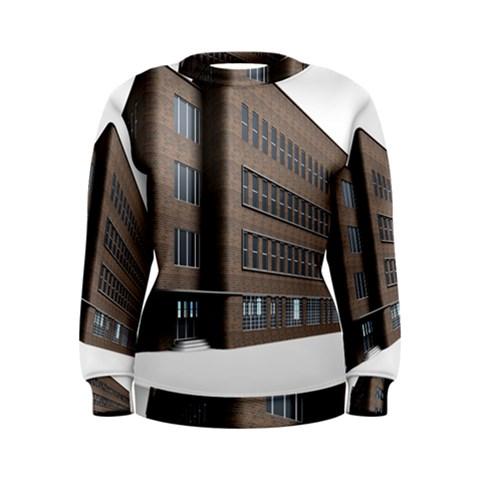 Office Building Villa Rendering Women s Sweatshirt
