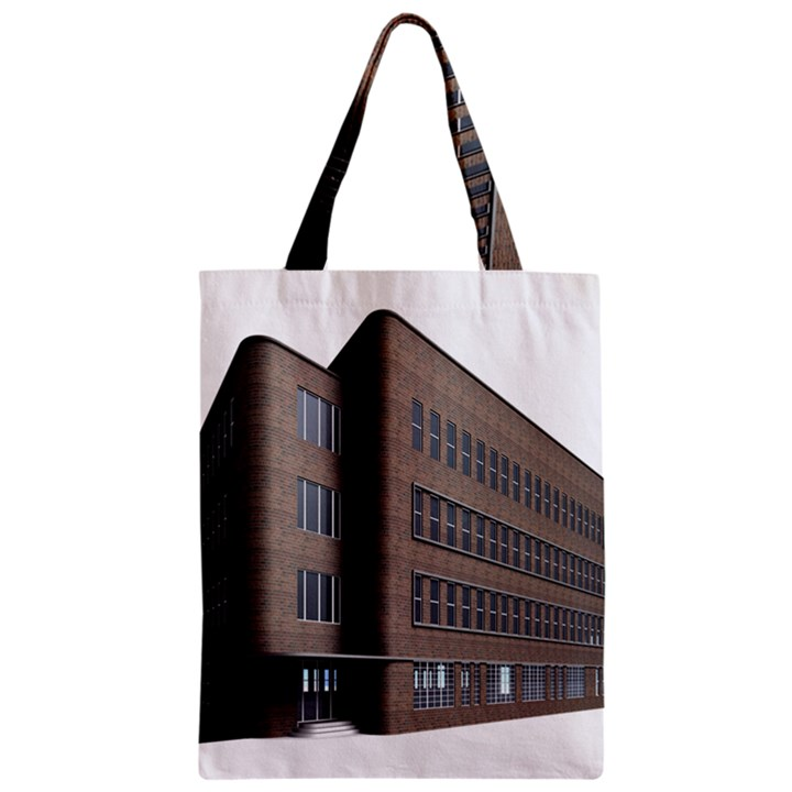 Office Building Villa Rendering Zipper Classic Tote Bag