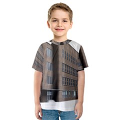 Office Building Villa Rendering Kids  Sport Mesh Tee
