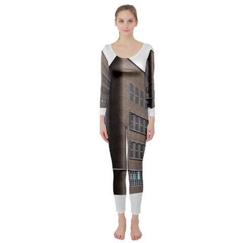 Office Building Villa Rendering Long Sleeve Catsuit