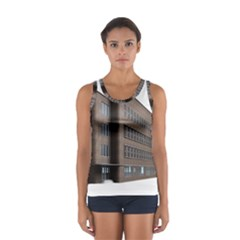 Office Building Villa Rendering Women s Sport Tank Top