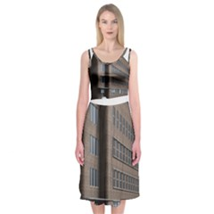 Office Building Villa Rendering Midi Sleeveless Dress