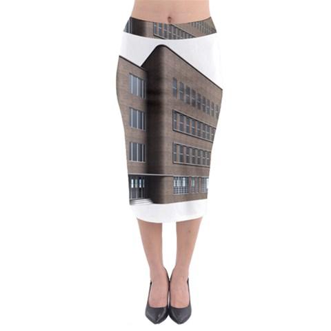 Office Building Villa Rendering Midi Pencil Skirt