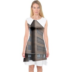 Office Building Villa Rendering Capsleeve Midi Dress