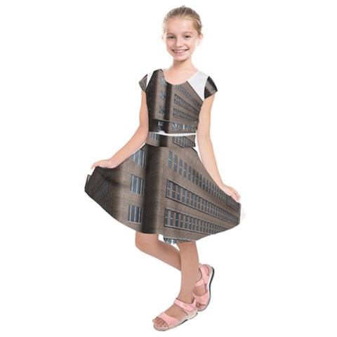 Office Building Villa Rendering Kids  Short Sleeve Dress