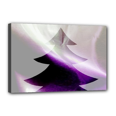Purple Christmas Tree Canvas 18  x 12