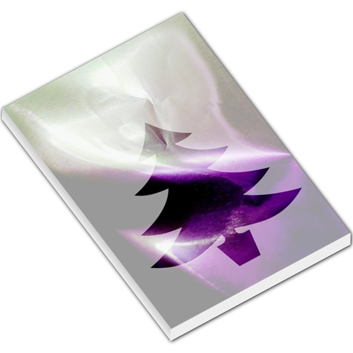 Purple Christmas Tree Large Memo Pads