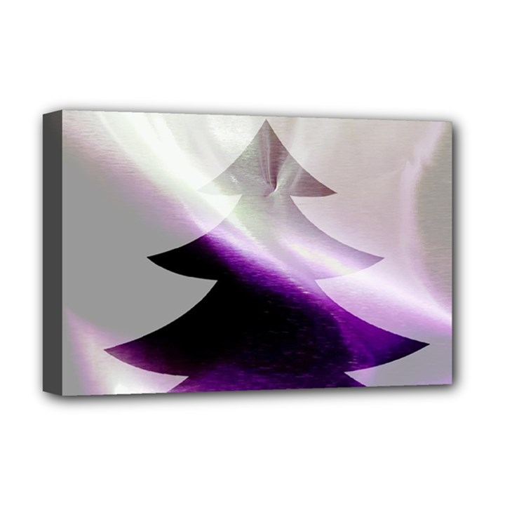 Purple Christmas Tree Deluxe Canvas 18  x 12