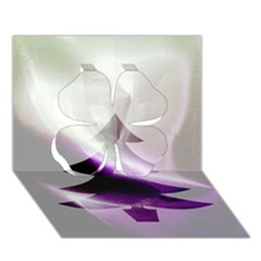 Purple Christmas Tree Clover 3D Greeting Card (7x5)