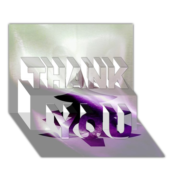 Purple Christmas Tree THANK YOU 3D Greeting Card (7x5)