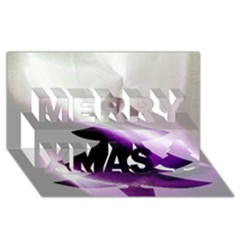 Purple Christmas Tree Merry Xmas 3d Greeting Card (8x4)